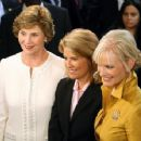 Laura Bush, Fox News' Greta Van Susteren and Cindy McCain - 454 x 353