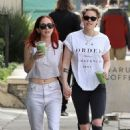 Kristen Stewart and Sara Dinkin – Heads to a juice shop in Loz Feliz