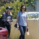 Nina Dobrev in Jeans out in LA - 454 x 613