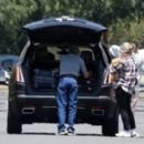 Selena Gomez – Packing up luggage for a travel in Los Angeles