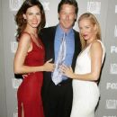 (L-R) Actors Justine Eyre, John Allen Nelson and Penelope Ann Miller arrive at the 20th Century Fox Television and FOX Broadcasting Company 2006 Emmy party held at Spago on August 27, 2006 in Beverly Hills, California