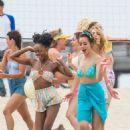 Chloe Bennet in Bikini on 'Valley Girl' set in LA - 454 x 630