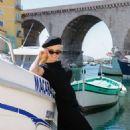 Pamela Anderson – Seen Out in Corniche-Kennedy Neighborhood in Marseille