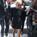 Zoe Kravitz in Mini Dress at AOL Build in New York - 454 x 649