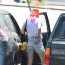 Bella Thorne in Denim Shorts out in Los Angeles