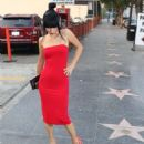 Bai Lingin Red Dress outside Avalon in Hollywood - 454 x 681