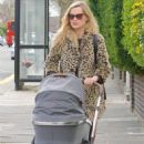 Laura Whitmore – With Iain Sterling out with their newborn baby in outin London - 454 x 754