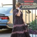Ashley Tisdale – In dress arrives at a studio in Los Angeles