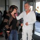 Eddie Van Halen and Jane Liszewski seen at LAX. - 400 x 600