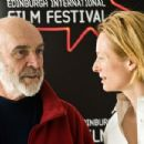 Tilda Swinton With Sean Connery Attend A Photocall On Day Four Of The Edinburgh International Film Festival, Scotland 2008-06-21