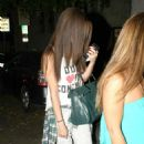 Selena Gomez got her hair chemically straightened today at a hair salon in West Hollywood, California on July 19, 2013 - 454 x 585