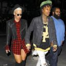 Amber Rose and Wiz Khalifa at the Jay Z Concert at the Staples Center in Los Angeles, California - December 9, 2013 - 454 x 668
