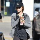 Lucy Hale – Grabbing an Iced Coffee from Starbucks in Studio City 12/1/ 2016 - 454 x 588