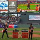 James Hetfield and Kirk Hammett of the rock band Metallica perform the national anthem on the field before the game between the San Francisco Giants and the Colorado Rockies at AT&T Park on May 6, 2016 in San Francisco, California.