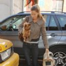 Gisele Bündchen - Out And About In New York With Her Puppy - Mar 17 2008