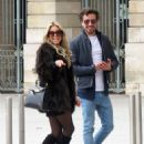 Sylvie Meis and her boyfriend out in Paris - 454 x 586