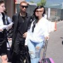 Blac Chyna and Tyga Arriving in Florence, Italy - May 24, 2014