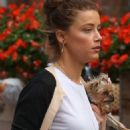 Amber Heard out with her adorable dog in New York City (August 27)