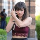 Roxanne Pallett – Leaving a hotel in Ipswich - 454 x 482