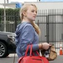Evanna Lynch – Leaving the Dancing with the Stars Studios in LA