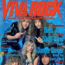 Ted Poley, Bruno Ravel, Steve West - Viva Rock Magazine Cover [Japan] (February 1990)