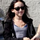 Noah Cyrus flashing bra