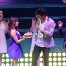 Mariana Espósito and Mariano Martínez- Celebrating his birthday on stage of