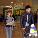 Kylie Minogue - Arrives At Barcelona Airport, 2009-12-24