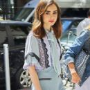 Lily Collins out and about in New York City