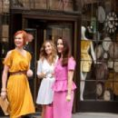 (L-r) CYNTHIA NIXON as Miranda Hobbes, SARAH JESSICA PARKER as Carrie Bradshaw and KRISTIN DAVIS as Charlotte York in New Line Cinema's comedy 'SEX AND THE CITY 2,' a Warner Bros. Pictures release. Photo by Craig Blankenhorn