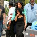 Nicole 'Snooki' Polizzi stop by the 'Extra' set January 26,2015 - 440 x 600