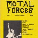 Dave Murray - Metal Forces Magazine Cover [United Kingdom] (September 1983)