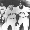 Manager Leo Durocher With Monte Irvin