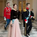 Crown Princess Mary Elizabeth of Denmark and Kronprins Frederik : New Year's Reception at Christiansborg Palace - 2015 (January 7, 2015) - 454 x 553