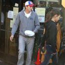 Ashton Kutcher and Mila Kunis leaving the Bossa Nova Restaurant after lunch in Hollywood, California on December 11, 2012