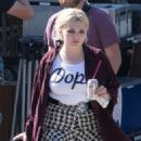 Abigail Breslin – On the Set of 'Scream Queens' in Los Angeles 9/1/2016 - 454 x 521