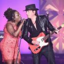 Ledisi Anibade Young and Guitarist Richie Sambora perform onstage at the Songwriters Hall Of Fame 46th Annual Induction And Awards at Marriott Marquis Hotel on June 18, 2015 in New York City. - 454 x 331