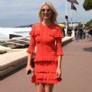 Lena Gercke in Red Dress out in Cannes - 454 x 709