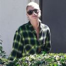 Hailey Baldwin at office building in West Hollywood