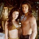 Jane March and Casper Van Dien in Tarzan and the Lost City (1998)