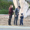 Alessandra Ambrosio & Family Out In Santa Monica - 454 x 410