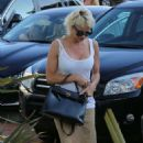 Pamela Anderson Arriving The Malibu Country Mart