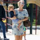Molly Sims & Her Son At The Park