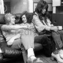 Marc Bolan, Gloria Jones and Mick Ronson