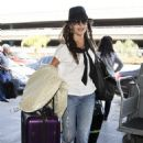 Camilla Belle: at LAX Airport in Los Angeles