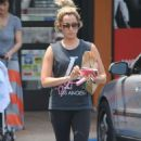 Ashley Tisdale Leaving A Rite Aid In La