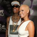 Amber Rose and Wiz Khalifa Attend the 28th Annual MTV Video Music Awards at the Nokia Theatre L.A. Live in Los Angeles, California -  August 28, 2011 - 441 x 594