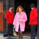 Eva Mendes: showed up outside her luxury hotel in New York City