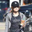 Lucy Hale – Grabbing an Iced Coffee from Starbucks in Studio City 12/1/ 2016 - 454 x 580
