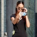 Joan Smalls in Black Outfit – Out in Milan - 454 x 681